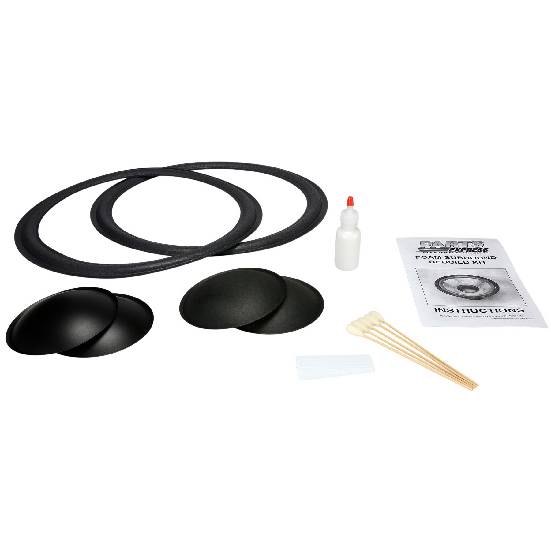 """Speaker Surround Re-Foam Repair Kit For 15"""" Speaker"""