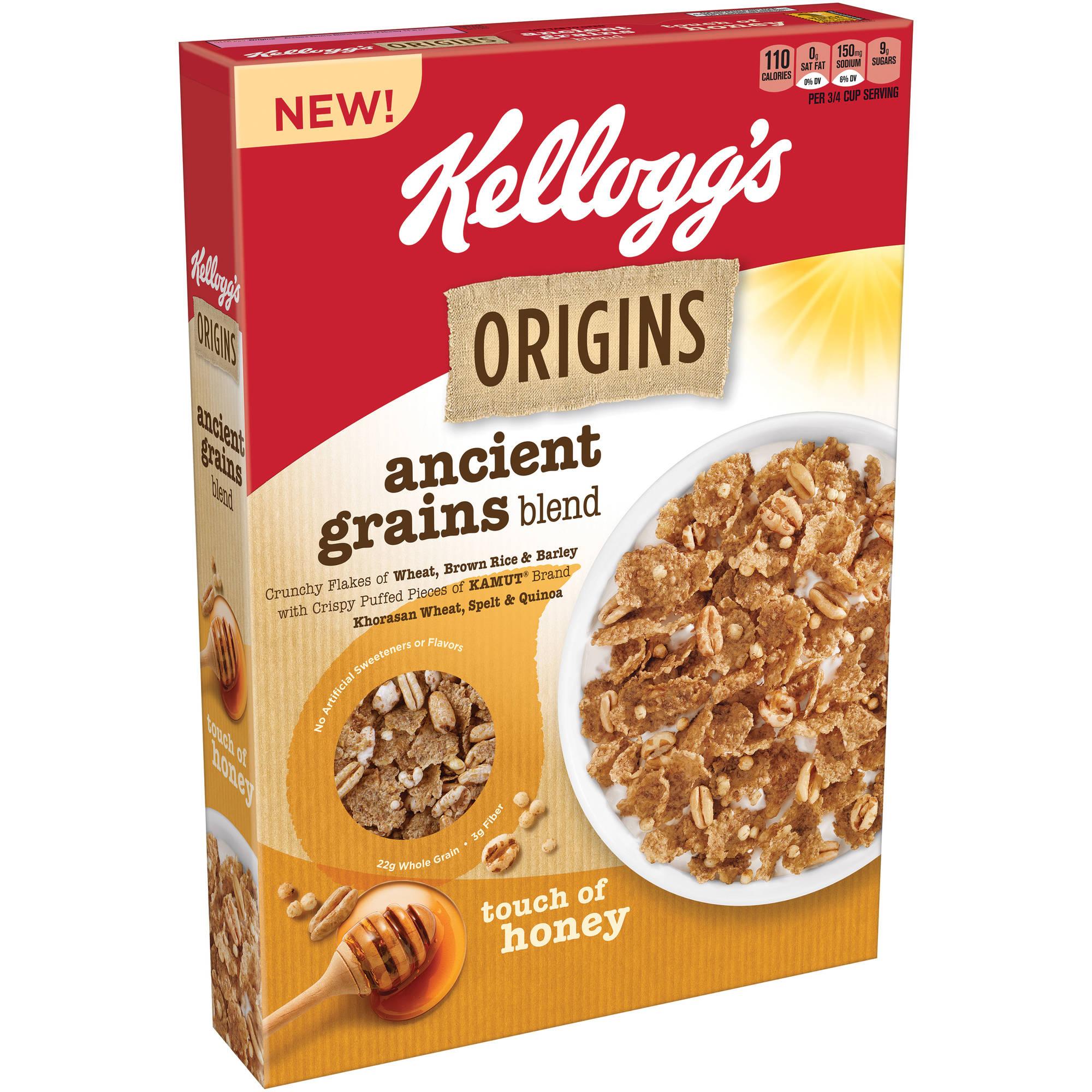 Kellogg\u0026#39;s Origins Ancient Grains Blend Cereal, 11.8 oz - Walmart.com