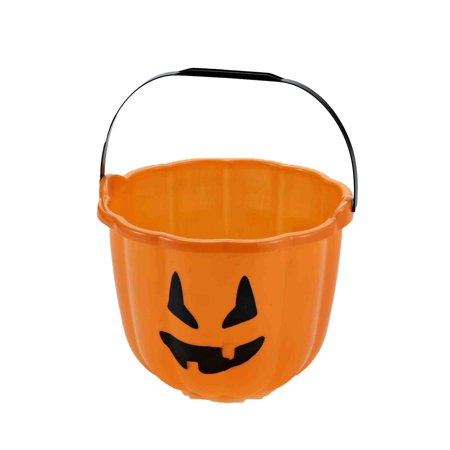 Orange Pumpkin Pail Halloween Decoration (Halloween Pails Wholesale)