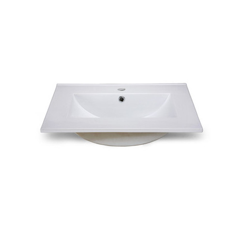 Ryvyr Rectangular Vessel Bathroom Sink with Overflow