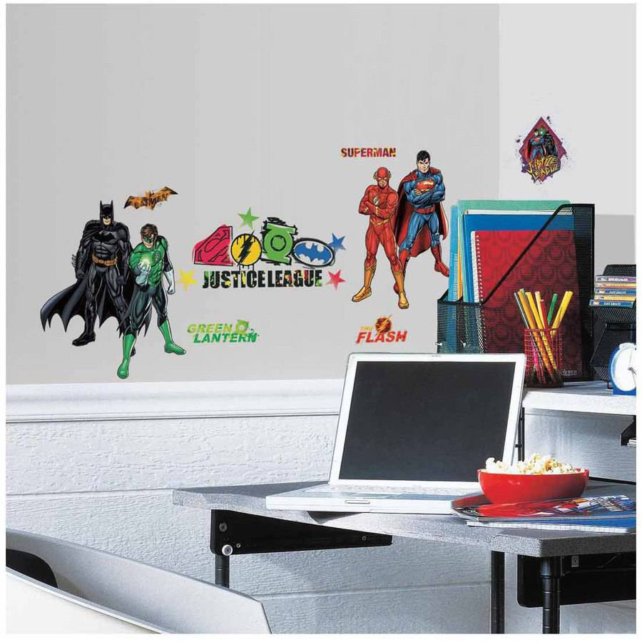 Justice League Peel and Stick Wall Decals