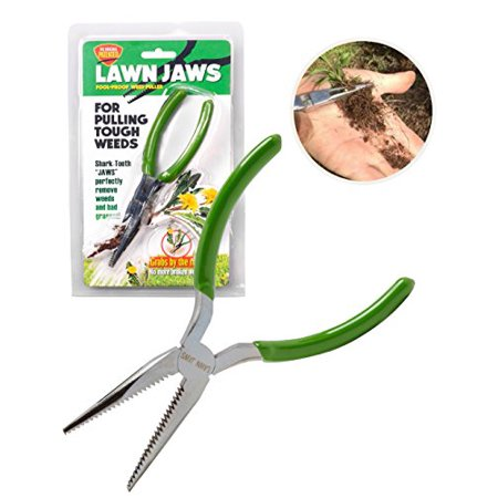The Original Lawn Jaws Sharktooth Weed Remover Weeding & Gardening Tool Weeder - Pull from the Root Easily!