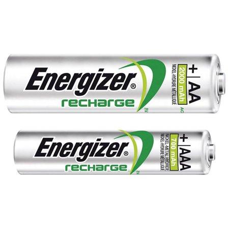 2 x AA (2000mAh) & 2 x AAA (700mAh) NiMH Energizer Rechargeable Batteries - image 1 de 1