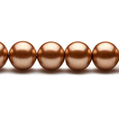 16mm Rose Gold Round Glass Pearl 16Inch/pack (2-pack Value Bundle), SAVE $1 (Jugs Pearl)