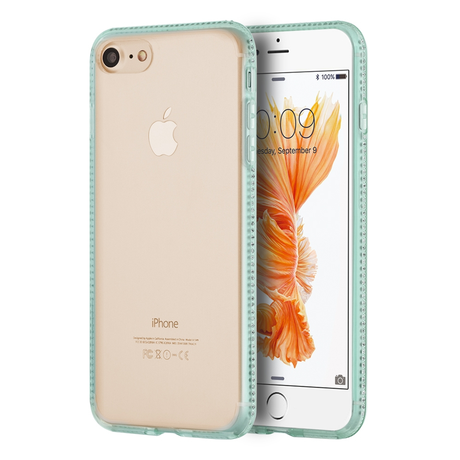 iPhone 8 Case, iPhone 7 Case, by Insten TPU Rubber Candy Skin Case With Diamond For Apple iPhone 8 / iPhone 7
