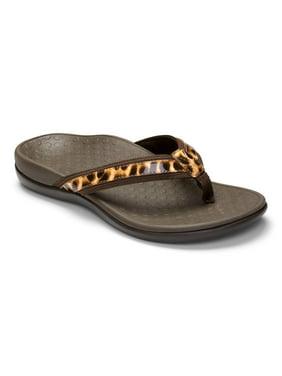 vionic womens tide ii sandal brown leopard size 11