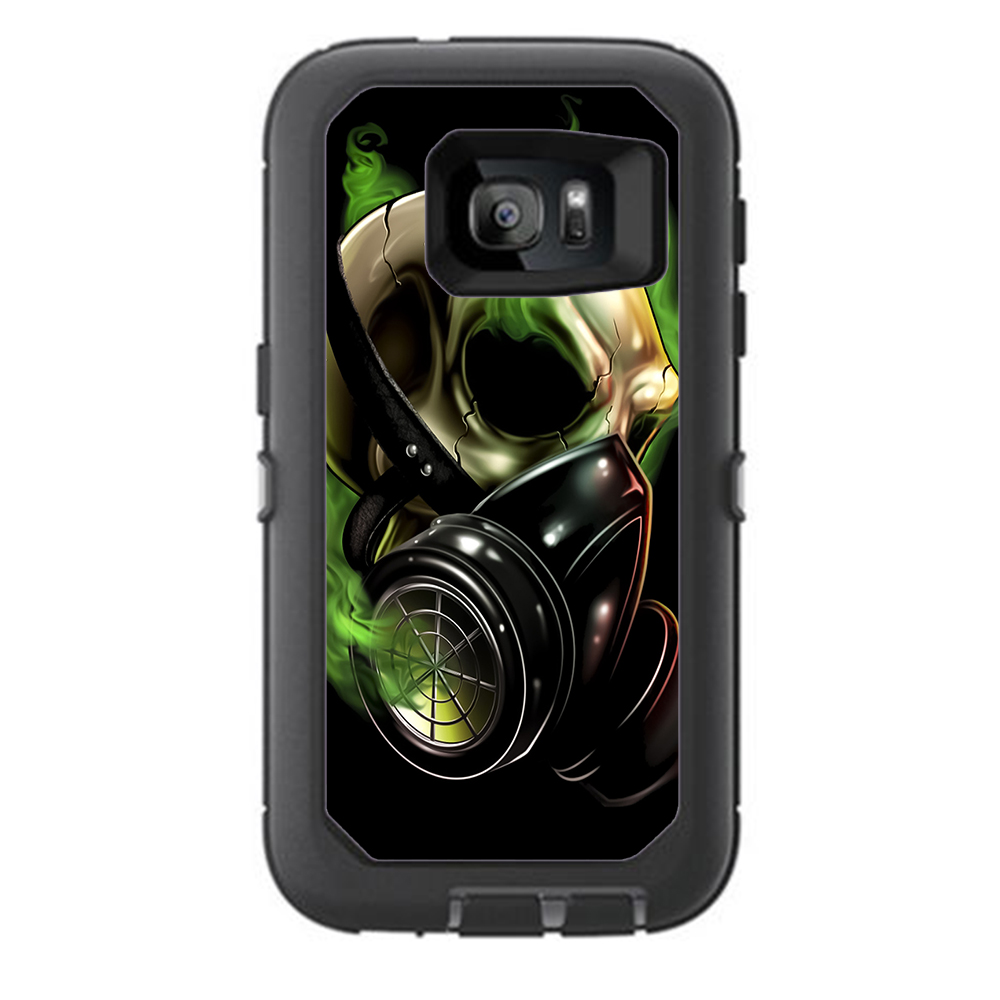 Skins Decals For Otterbox Defender Samsung Galaxy S7 Case   Gas Mask Skeleton by Itsaskin