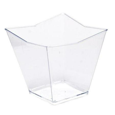 Mini Ware Small Plastic Star Cup Clear/Case of 288