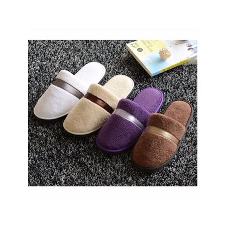 New Women Men Plush Slippers Home Floor Indoor Sandal Mule Flip Flop Winter Warm
