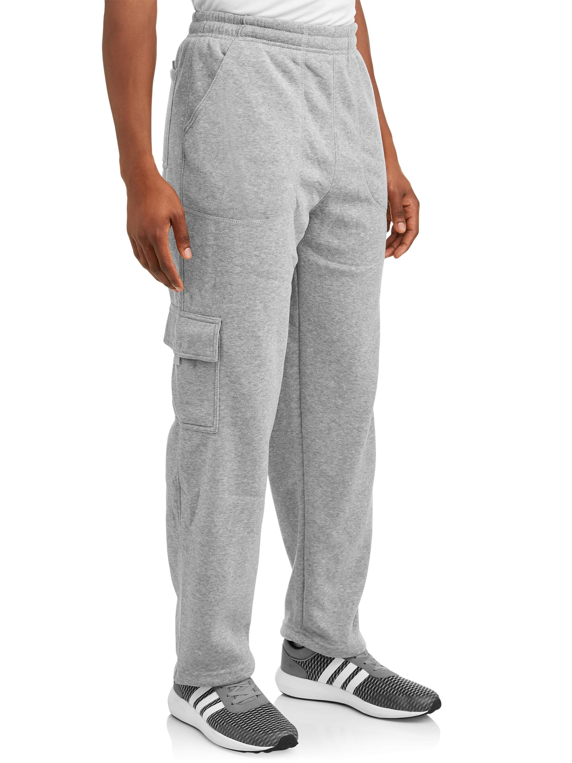 i5 INC Big Men's Cargo Pocket Fleece Sweatpant