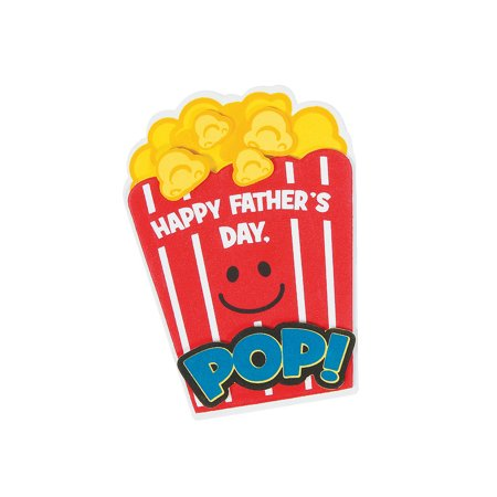 IN-13768846 Popcorn Father's Day Magnet Craft Kit - Father's Day Arts And Crafts