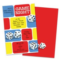 Personalized Dice Game Night Invitation