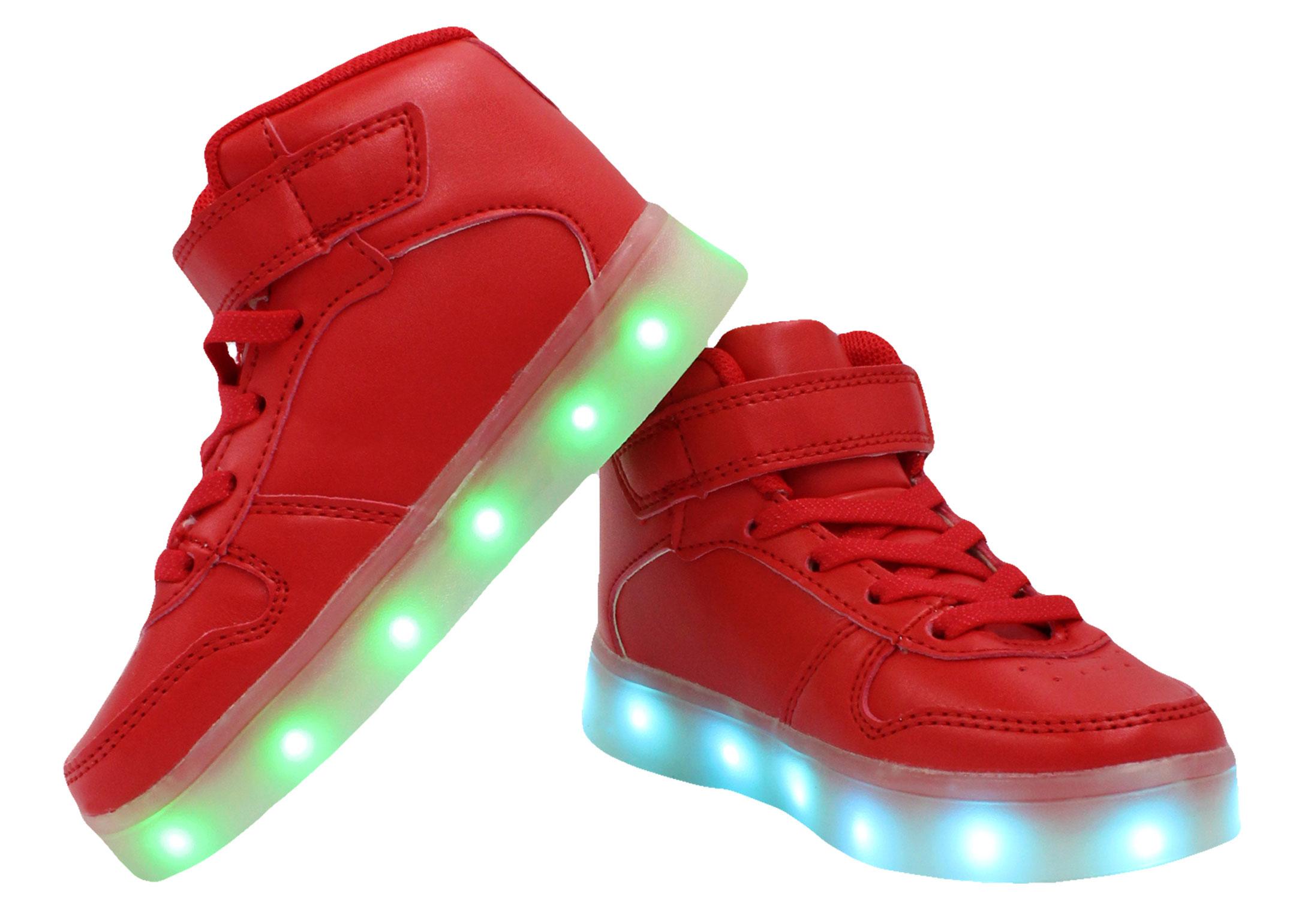 30482afd5c8 Galaxy Shoes - Galaxy LED Shoes Light Up USB Charging High Top Kids Sneakers  (Black) - Walmart.com