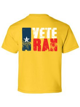 Awkward Styles Veteran Texas Youth Shirt USA Gifts for Kids Vitage USA Boy T shirt Vitage USA Girl T shirt USA Pride USA Veteran Tshirt for Boy USA Veteran Tshirt for Girl Print on the Back Only