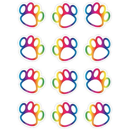 Teacher Created Resources Rainbow Paw Prints Mini Accents (5398) - image 1 of 1