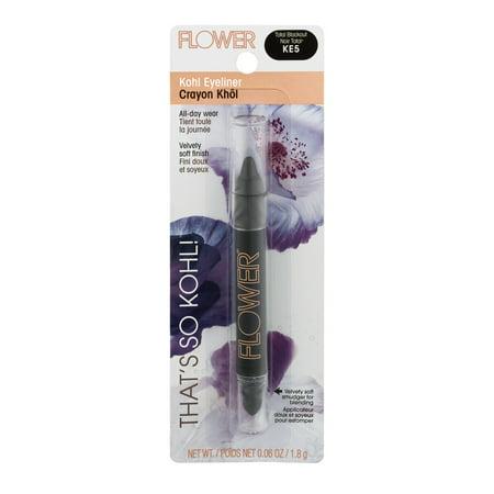 FLOWER That's So Kohl! Eyeliner, Total Blackout (Dramatic Eyeliner For Halloween)