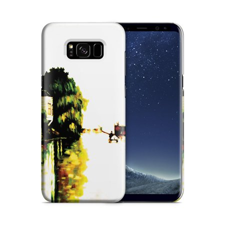 Galaxy S8 Plus Case - Houses on the Achterzaan by Claude Monet - High Resolution Graphics Printed with Non-Toxic Dye, Slim Profile while Still Guarding Against Impactsand Scratches (MATTE)