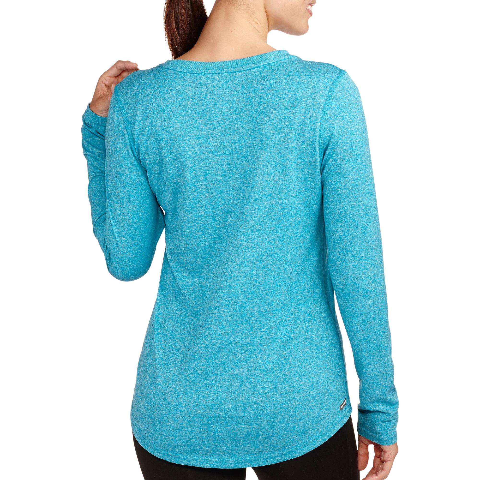 Danskin Now Women's Long Sleeve Vneck T-Shirt