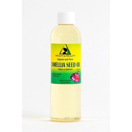 CAMELLIA / CAMELIA SEED OIL ORGANIC CARRIER COLD PRESSED 100% PURE 4 OZ (Organic Camellia Oil)