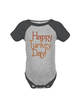 cd82e445 Product Image Custom Party Shop Baby's Happy Turkey Day Thanksgiving  Onepiece - 12 Month Onepiece
