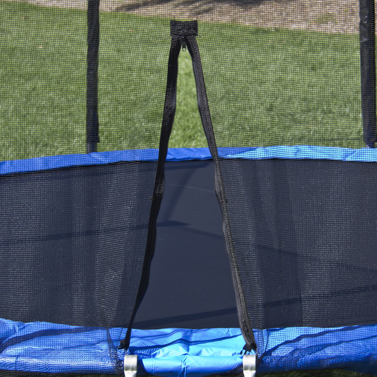 BBCAR 10 FT Trampoline Combo Bounce Jump Safety Enclosure Net W/Spring Pad Ladder
