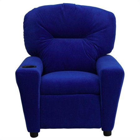 Bowery Hill Kids Recliner in Royal Blue with Cup Holder - image 2 de 5