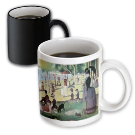 3dRose A Sunday Afternoon on the Island of La Grande Jatte by Georges-Pierre Seurat, Magic Transforming Mug, 11oz