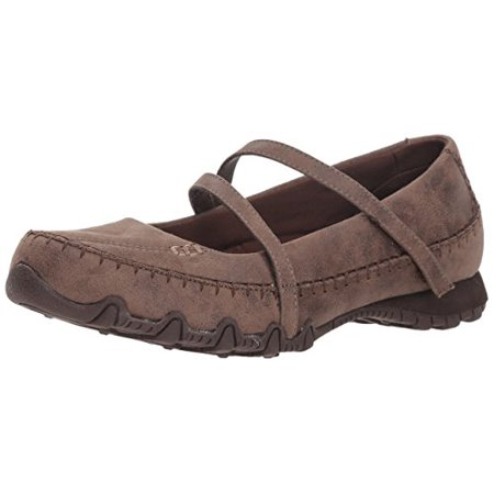 Skechers Women's Brown Leather Mary Jane Slippers 10m P2 Comfort Shoes