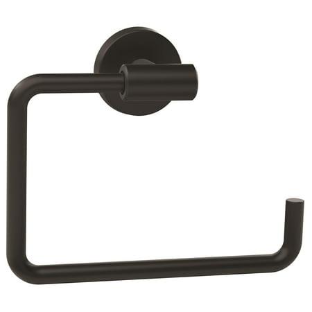 Arrondi 6-7/16 in (164 mm) Length Towel Ring in Matte Black 54 Black Towel Ring