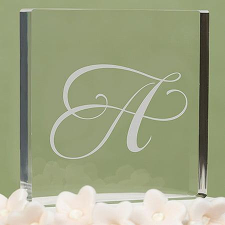 Letter ''A'' Script Initial Cake Top ()