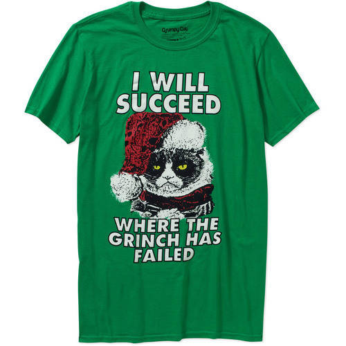 Juniors Grumpy Cat I Will Succeed Christmas Graphic Tee