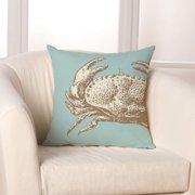 Checkerboard, Ltd Crab Throw Pillow
