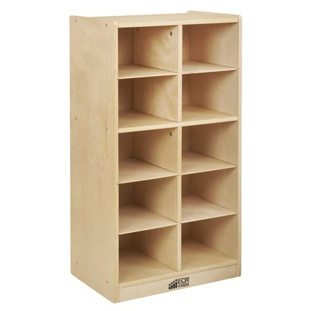 Birch 10 Cubby Tray Cabinet 20 Tray Cubby Storage