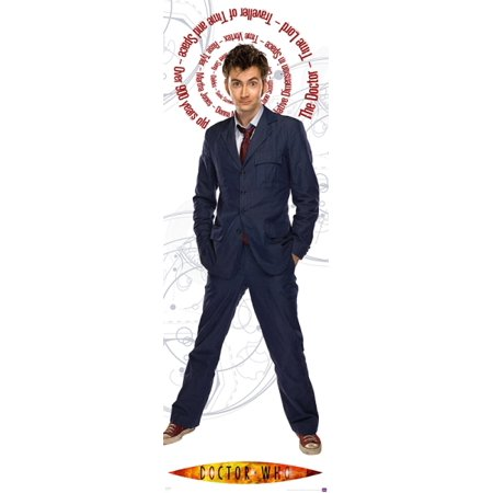 Doctor Who   Tv Show Door Poster   Print  David Tennant   The Doctor   Facts   Quotes   Dr  Who   Size  21  62