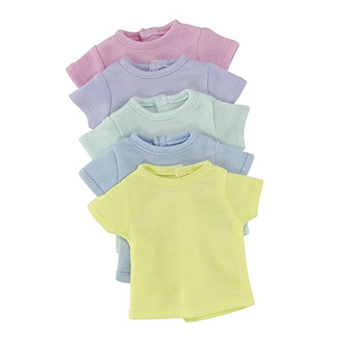 14 Inch Doll Clothes Clothing | Rainbow T-Shirts Value Set 5 Different Pastel Colors |... by Emily Rose Doll Clothes