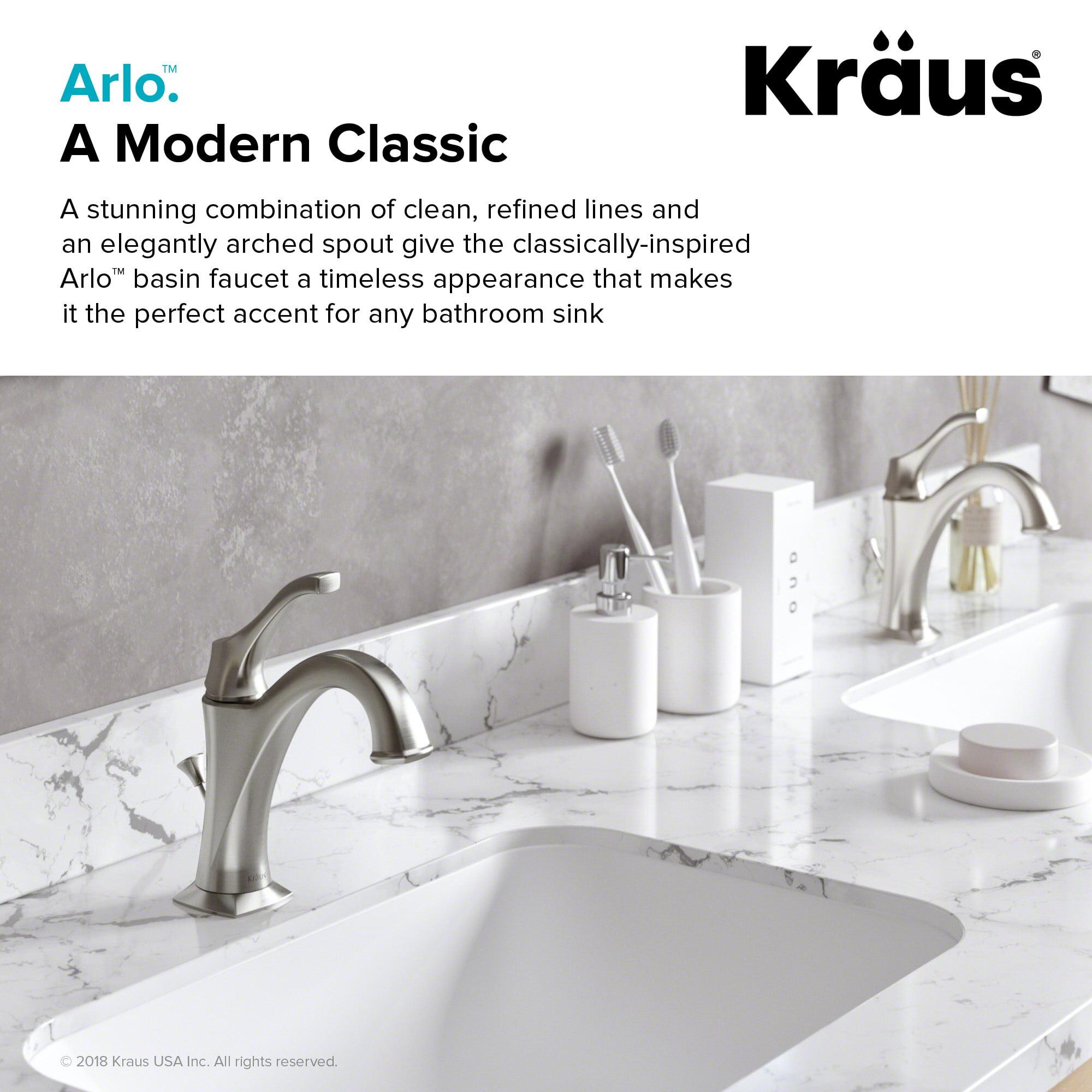 KRAUS Arlo™ Oil Rubbed Bronze Single Handle Basin Bathroom Faucet ...