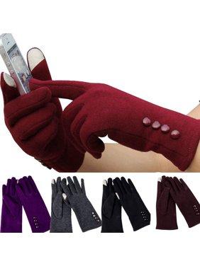 Fashion Women Outdoor Winter Warm Gloves Touch Screen Sport Ski Gloves Mittens