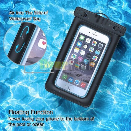 Black Waterproof Dry Pouch Bag Case Cover For All Cell Phone PDA