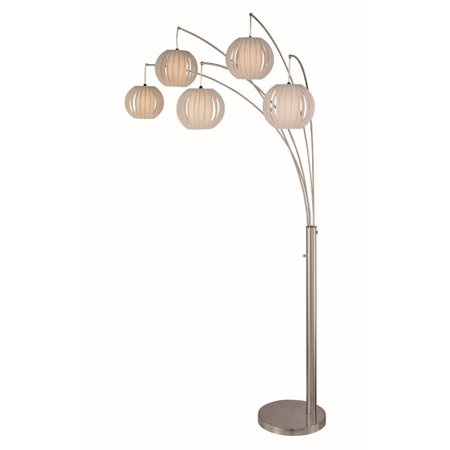 Lite Source Deion 5 Light Floor Lamp in White