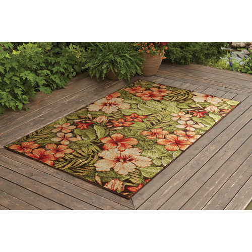 Better Homes And Gardens Tropical Gardens Outdoor Rug, ...