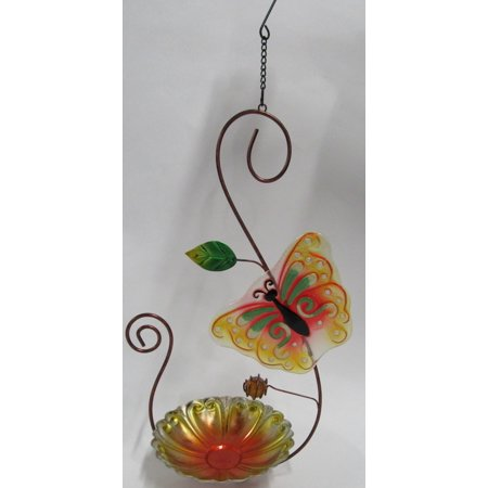 Butterfly Glass Bird Feeder ()