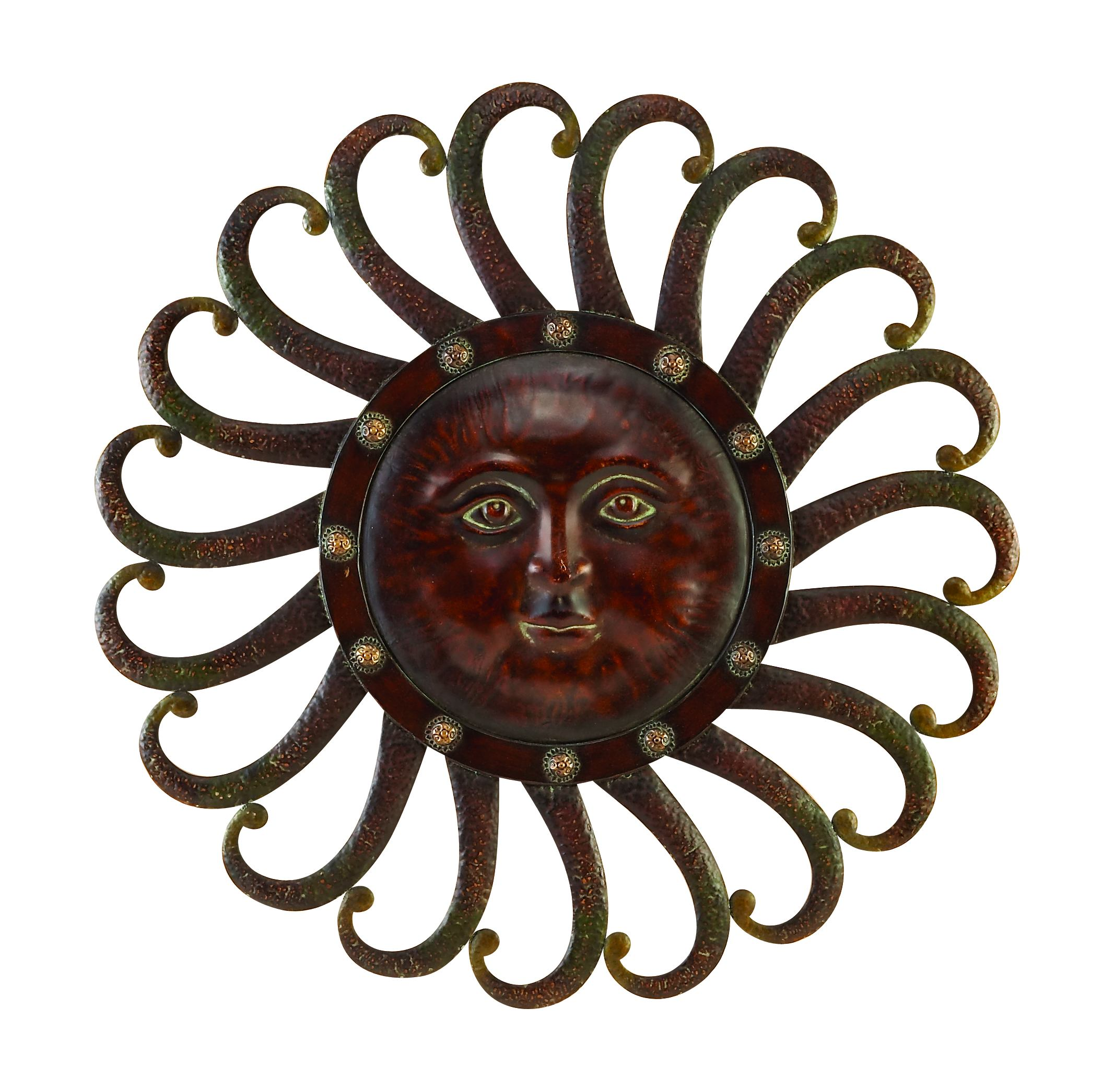Metal Sun Wall Plaque Feel The Warmth Of Sun by Benzara