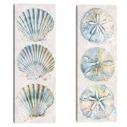 Shell Panel I & II by Studio Arts Set of 2 Canvas Prints