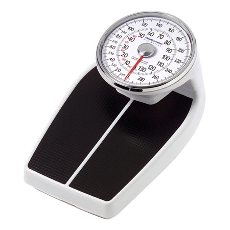 Healthometer 160KL 400 lb/180Kg Capacity Raised Dial Floor Scale 300 Lb Dial Scale