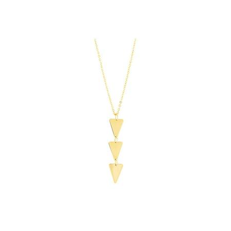 db16d4d2ceff5 14k Yellow Gold Diamond Cut Oval Fancy Link Chain Triangle Pendant Necklace  Dangle Earrings Set