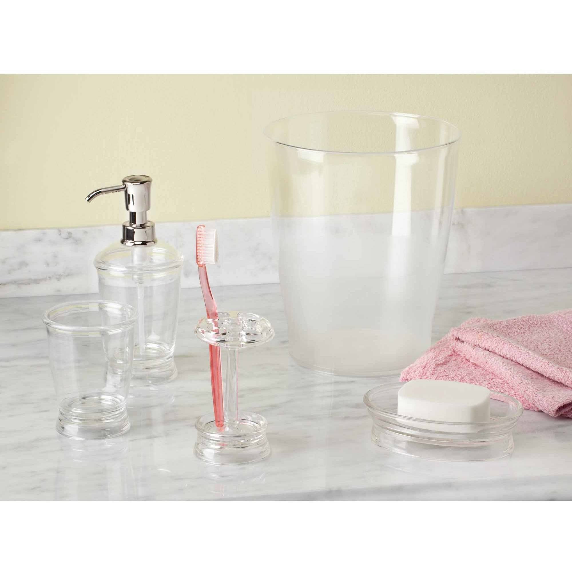 InterDesign Franklin Bath Set, Pump, Toothbrush Stand, Tumbler, Soap Dish and Waste Can by INTERDESIGN
