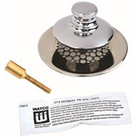 Watco Universal Nufit Tub Closure Push & Pull with Grid Strainer with Brass Pin, Silicone