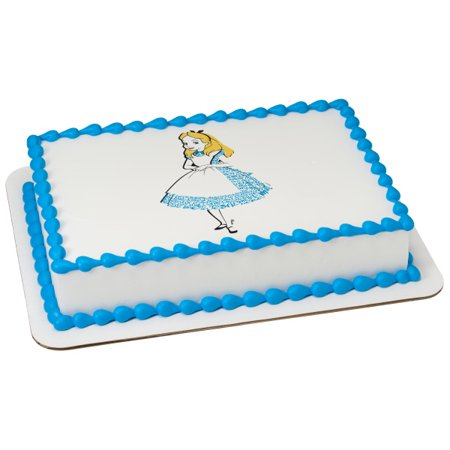 Alice In Wonderland Cake Decorations (Alice In Wonderland 1/4 Sheet Image Cake Topper Edible Birthday)