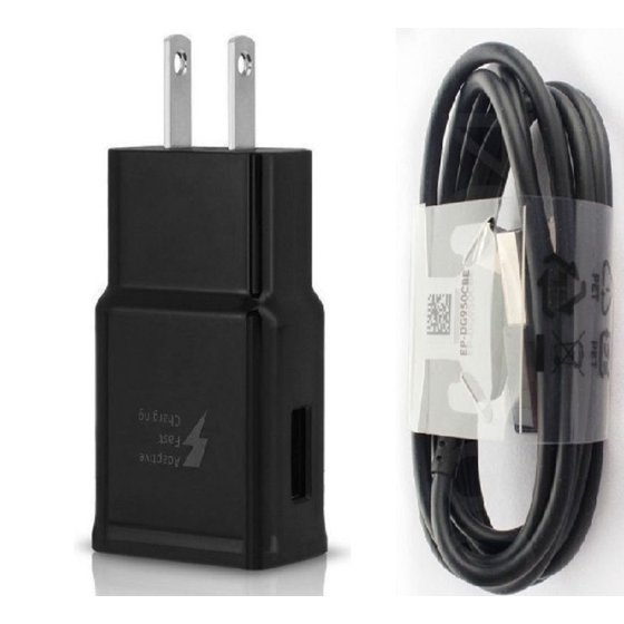 meet best quality search for latest OEM Samsung Galaxy S8 S9 S10, S10e Charger Adaptive Fast Charging With USB  Type C Cable Black