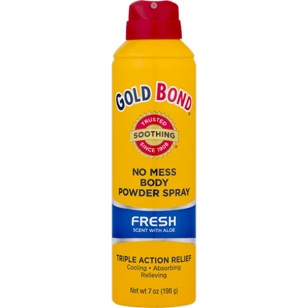 GOLD BOND No Mess Body Powder Spray Fresh Scent, 7oz